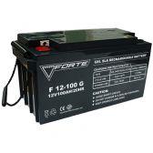 Аккумуляторная батарея FORTE F12-100G + Клемма 125х26х3