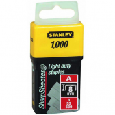 """Скобы  для степлера ручного """"Light Duty"""" тип """"А"""", 8мм, 1000шт. 1-TRA205T"""