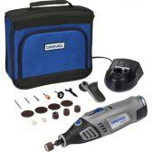 Многофункциональный аккумуляторный Dremel 8100, 1 приставка и 15 насадок