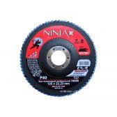 Круг пелюстковий шліфувальний NINJA Zirconium TM VIROK Т27 125х22 мм Р40 Al Inox Steel