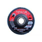Круг пелюстковий шліфувальний NINJA Zirconium TM VIROK Т27 125х22 мм Р60 Al Inox Steel