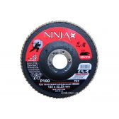 Круг пелюстковий шліфувальний NINJA Zirconium TM VIROK Т27 125х22 мм Р100 Al Inox Steel