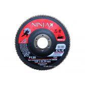 Круг пелюстковий шліфувальний NINJA Zirconium TM VIROK Т27 125х22 мм Р120 Al Inox Steel
