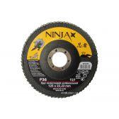 Круг пелюстковий шліфувальний NINJA TM VIROK Т27 125х22 мм Р36